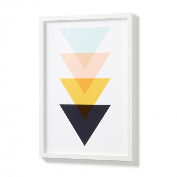 Affiche triangles graphiques cadre blanc 43x63 Corners
