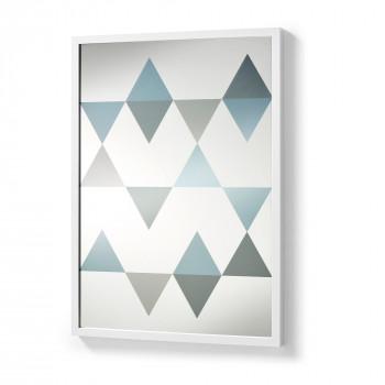 Miroir triptyque de barbier vintage drawer for Miroir 50x70