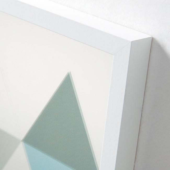 Miroir triangles dégradé de couleurs cadre blanc 50x70 Shades