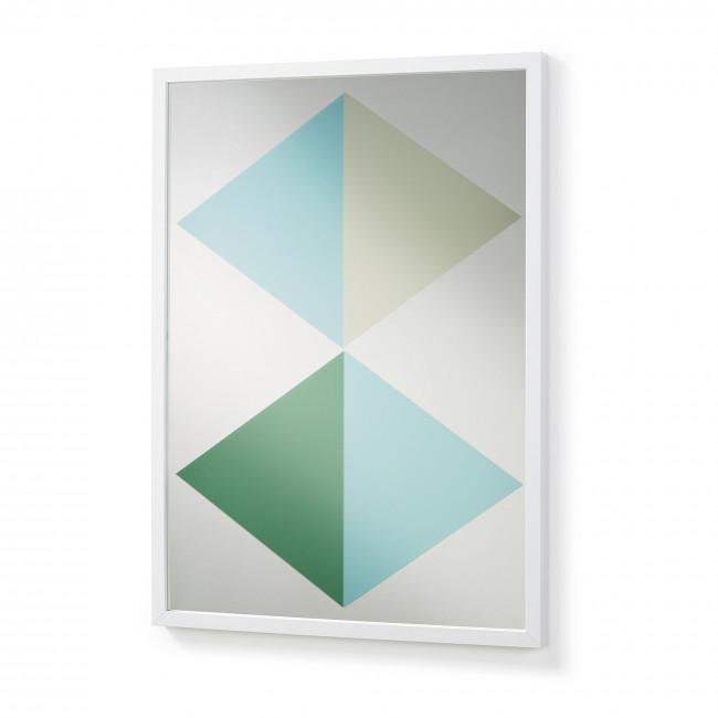 Miroir graphique cadre blanc 50x70 Reflection