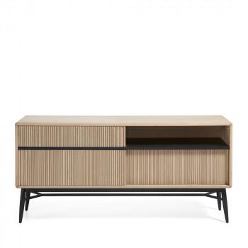 Buffet design bois chêne 3 portes coulissantes 180x85 Ray