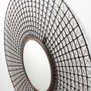 Miroir rond mural tiges métal cuivre