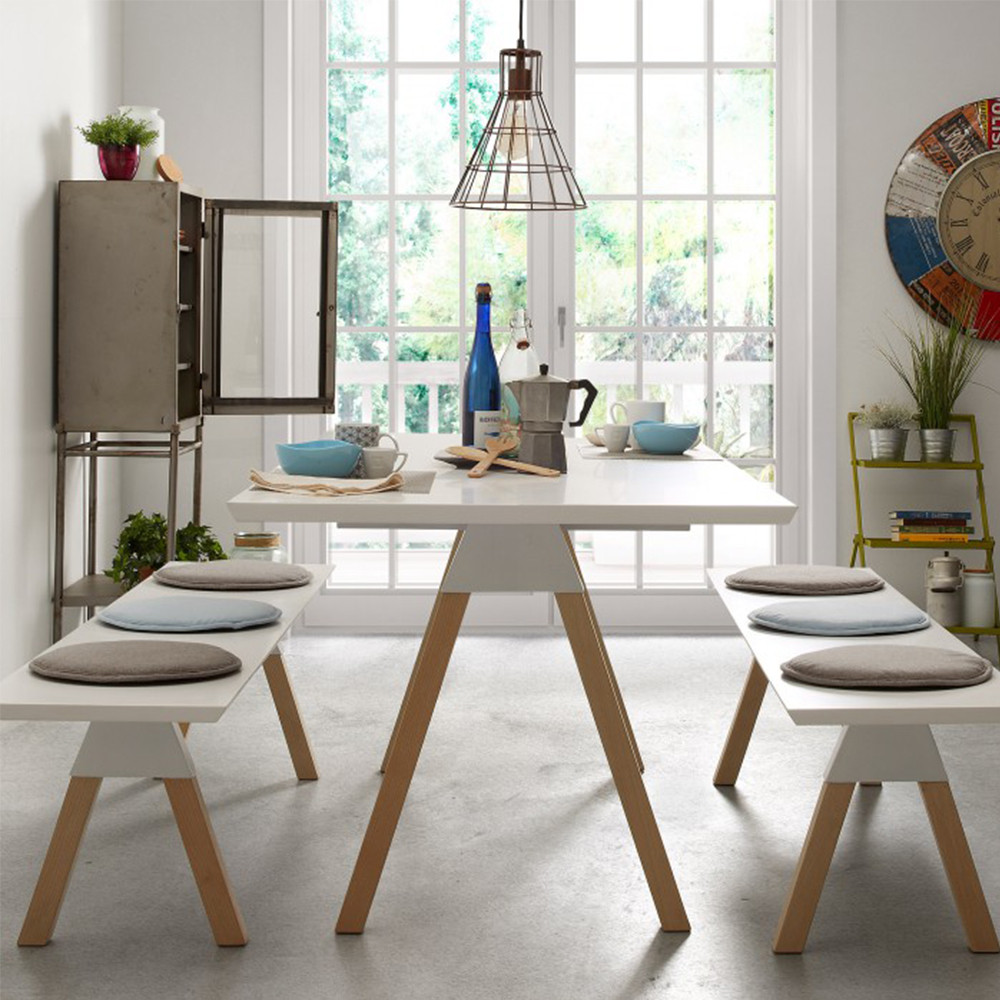 Banc Design Scandinave Bois Laqu Blanc Joe By Drawer # Banc De Table Blanc