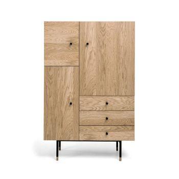 Armoire design bois et métal Jugend