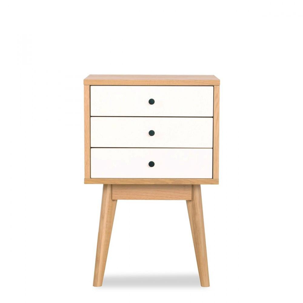table de chevet scandinave skoll 3 tiroirs by drawer. Black Bedroom Furniture Sets. Home Design Ideas