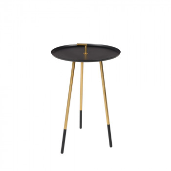 Table d'appoint métal laiton Rumbi Noir