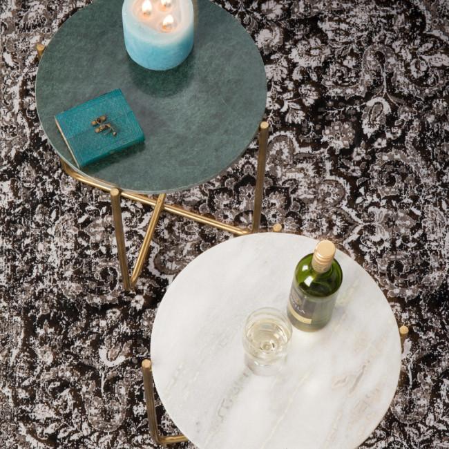 Table d'appoint marbre et laiton Timpa