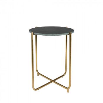 Table d'appoint marbre et laiton Timpa Vert