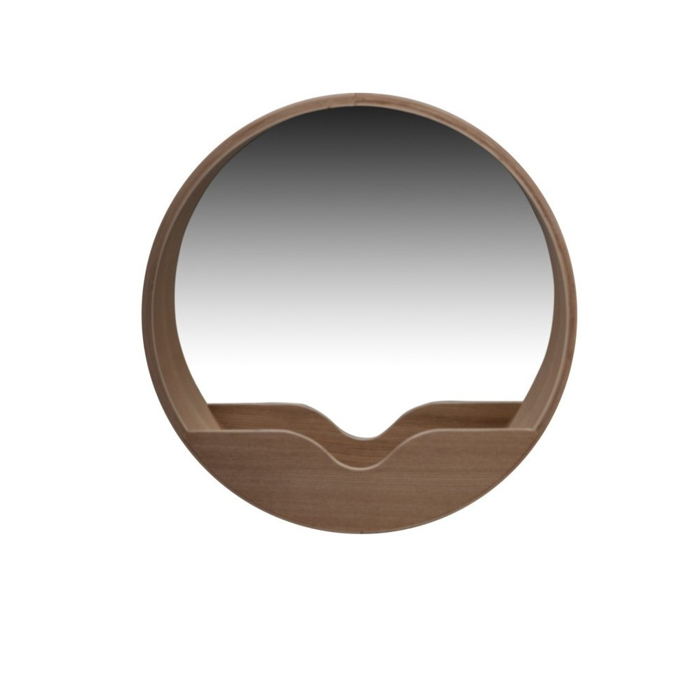 Miroir en bois round wall zuiver for Miroir zuiver