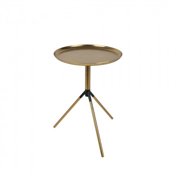 Table d'appoint tripode laiton Fraan