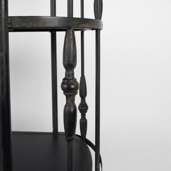Etagère métal noir à roulettes Blos