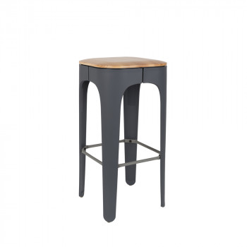 Gallery Of Tabouret De Bar Bois Cm Up High Gris Fonc With Fabriquer Un Tabouret De Bar En Bois