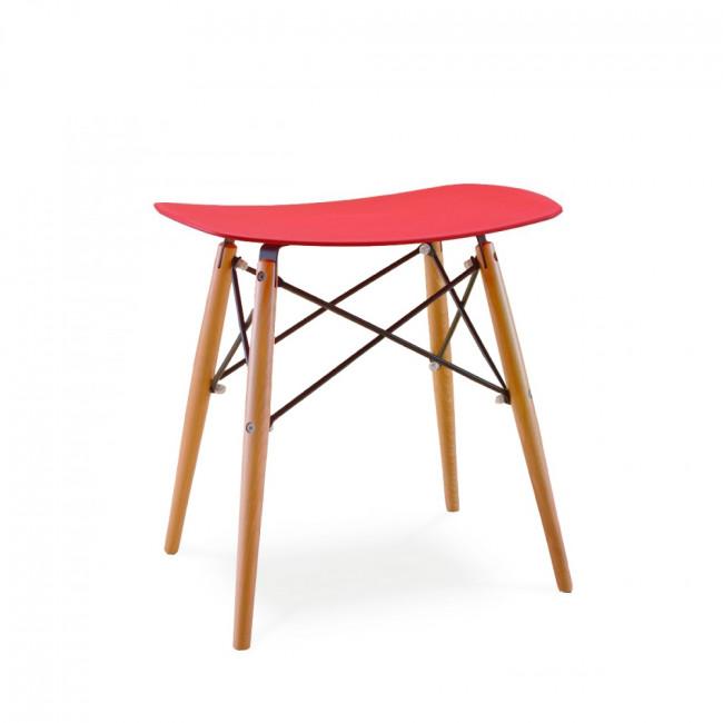 Tabouret design Skoll rouge