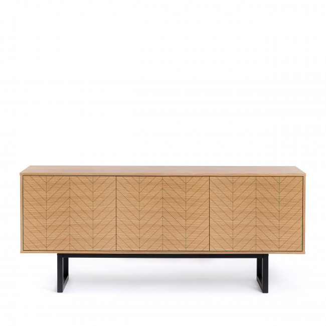 Buffet contemporain bois motifs rayés Camden