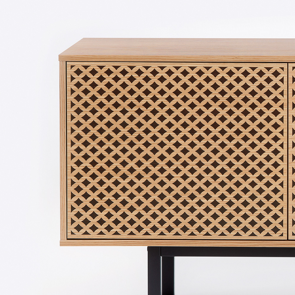 buffet contemporain bois motifs g om triques camden by drawer. Black Bedroom Furniture Sets. Home Design Ideas