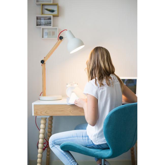 Lampe à poser bois & métal Study gris