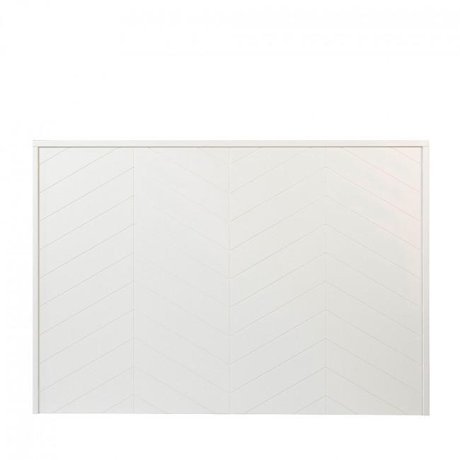 Tête de lit en bois blanc Chevron