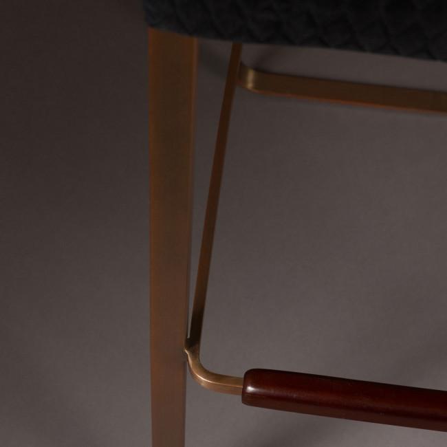 Tabouret de bar vintage tissu et métal Flor Dutchbone