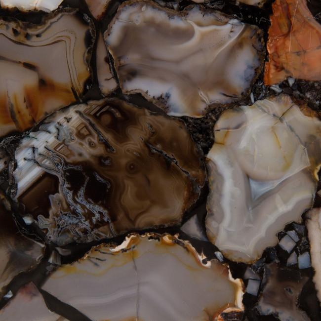 Table d'appoint métal et pierres Agate Dutchbone