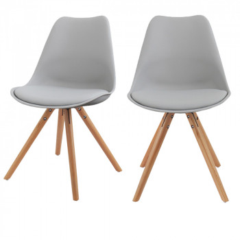 Lot de 2 chaises design Ormond Round grise