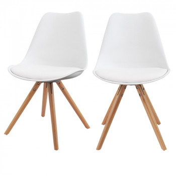 Lot de 2 chaises design Ormond Round blanc