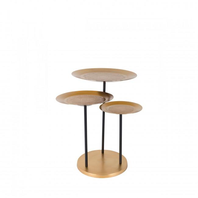 Table d'appoint métal doré Zatar Dutchbone or