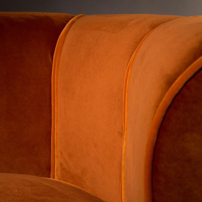 Fauteuil lounge effet velours Flower Dutchbone