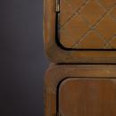 Buffet vintage bois 2 portes 8 tiroirs Jove Dutchbone détails côté
