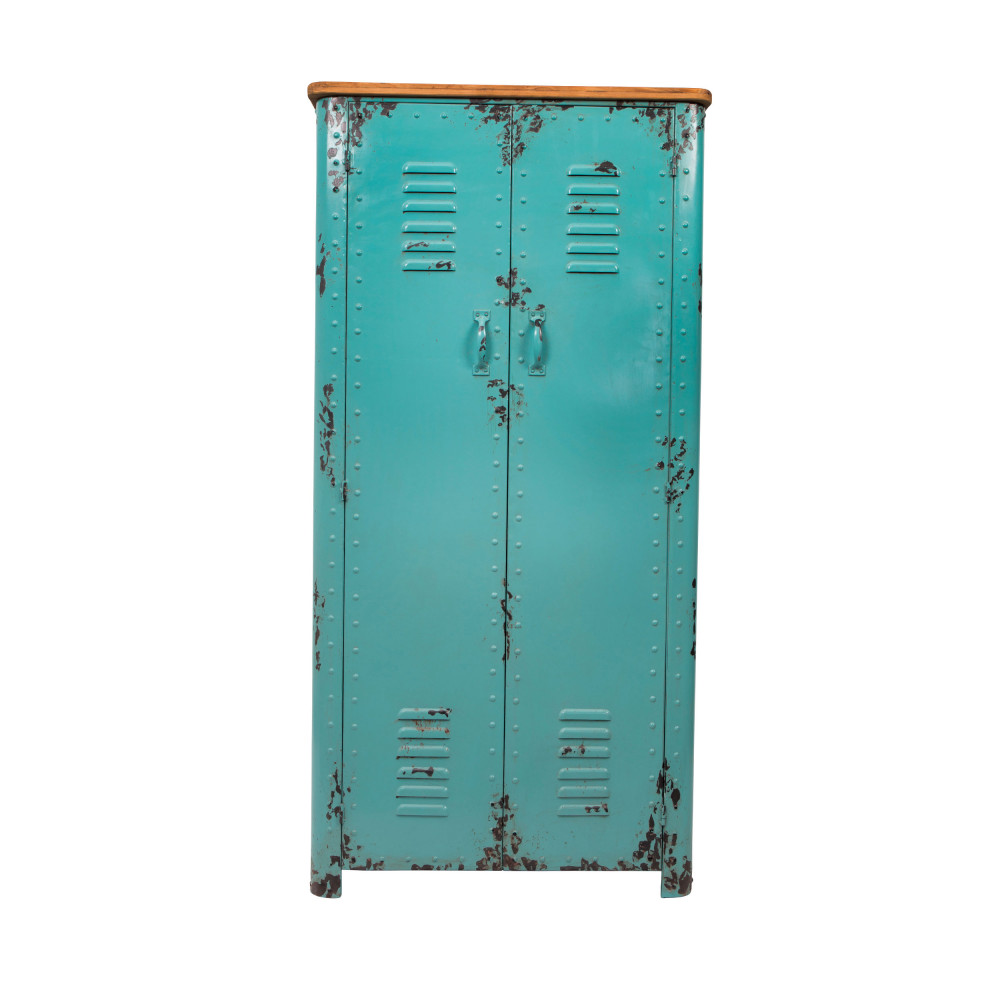 armoire casier en m tal rusty dutchbone by drawer. Black Bedroom Furniture Sets. Home Design Ideas