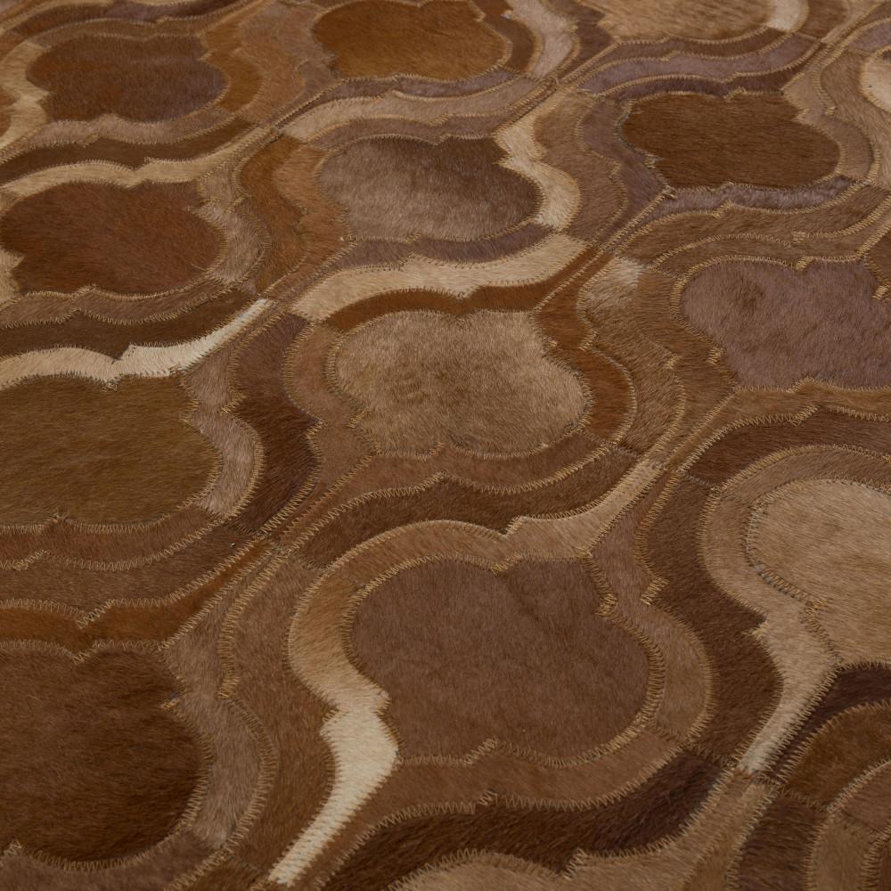Tapis Patchwork Fait Main Marron Bawang Dutchbone By Drawer