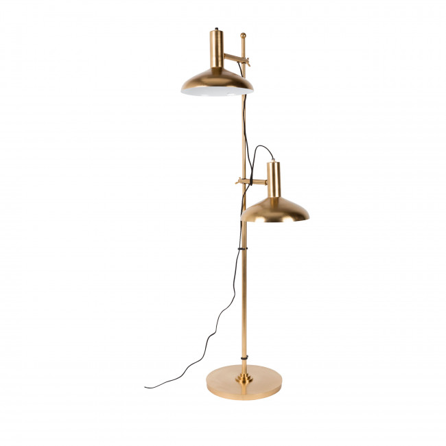 Lampadaire double fini laiton Karish Dutchbone