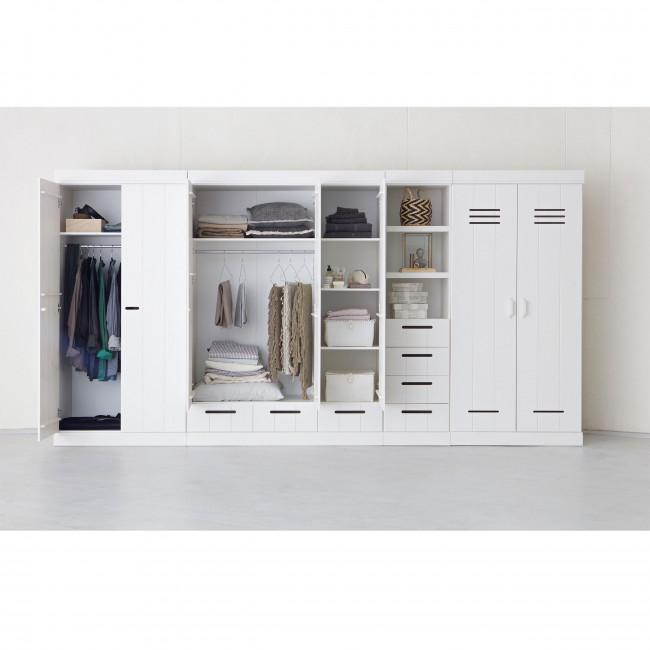 Armoire bois blanc 2 portes 2 tiroirs Connect