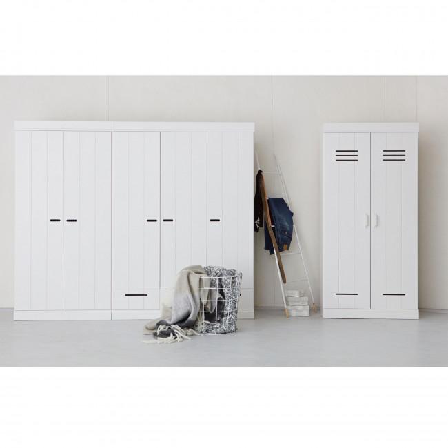 """Armoire bois blanc """"vestiaire"""" 2 portes Connect"""