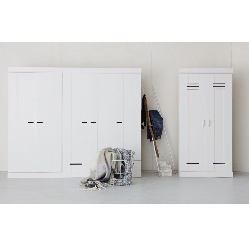 armoire connect 2 portes look vestiaire industriel. Black Bedroom Furniture Sets. Home Design Ideas