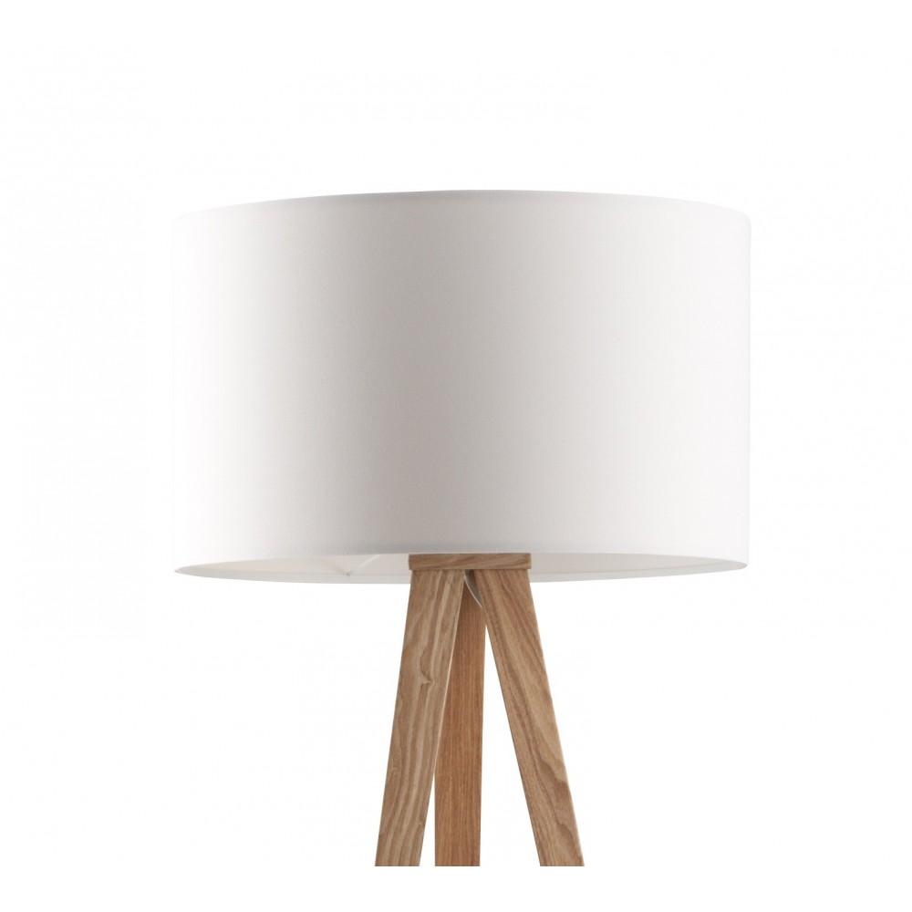 lampadaire design en bois et abat jour textile tripod wood. Black Bedroom Furniture Sets. Home Design Ideas