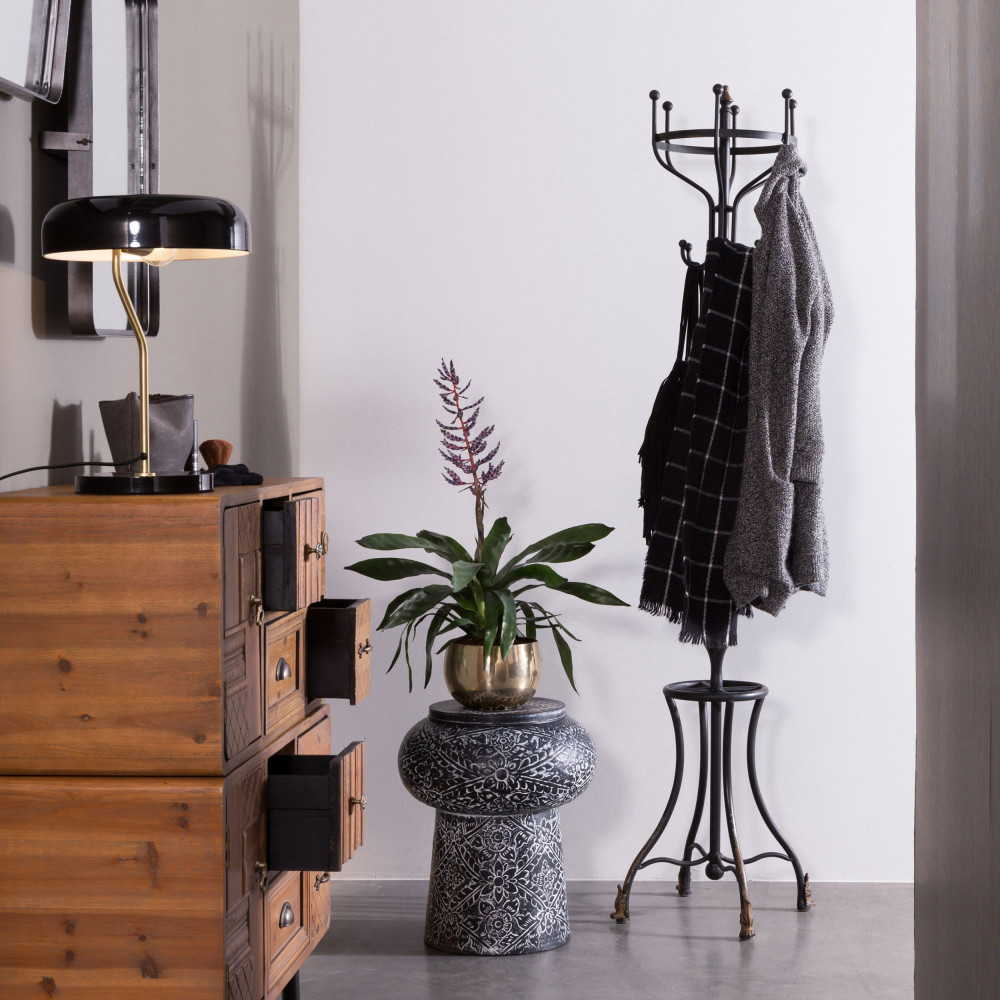 porte manteaux vintage m tal noir flavi dutchbone by drawer. Black Bedroom Furniture Sets. Home Design Ideas