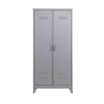Armoire grise 2 portes Marijke