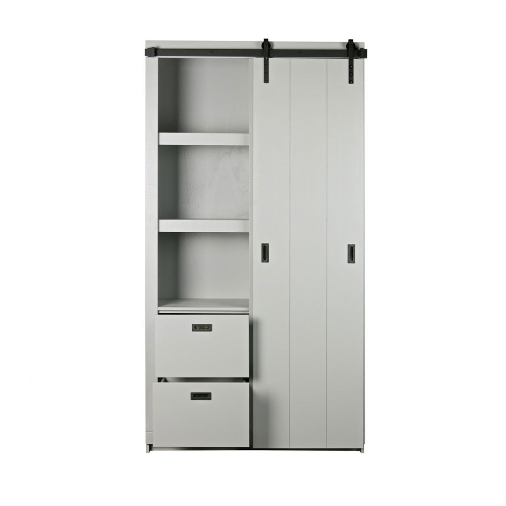 Armoire design bois porte coulissante barn by drawer - Armoire pin massif porte coulissante ...