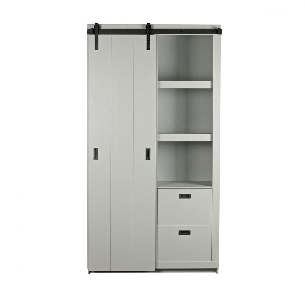 armoire design bois porte coulissante barn by drawer