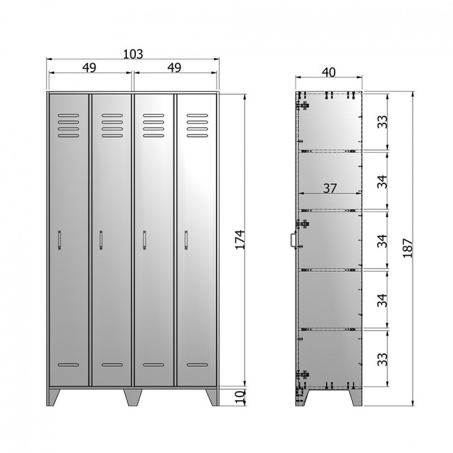 Armoire 2 portes en pin fsc Dirk
