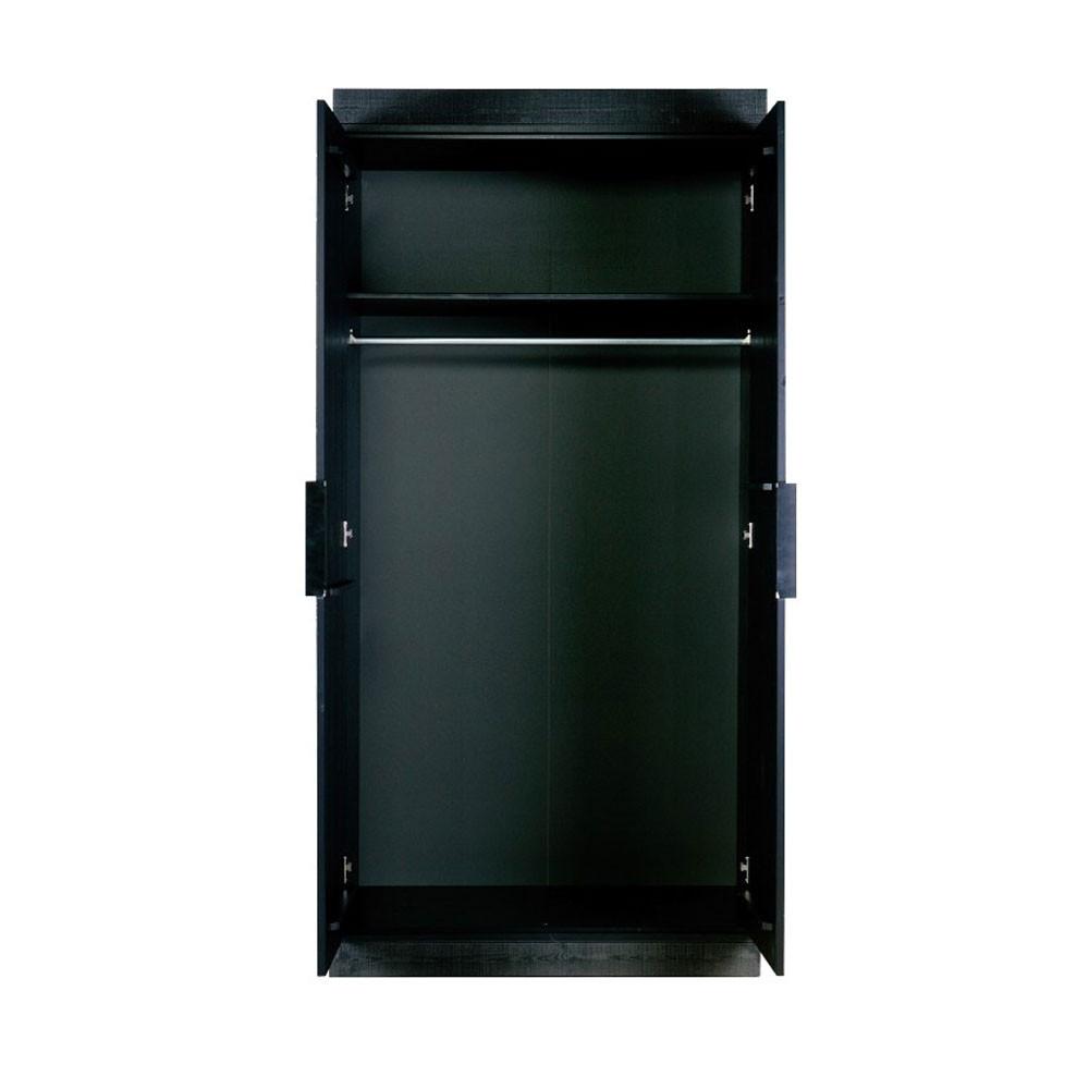 armoire bois massif 2 portes chevron par. Black Bedroom Furniture Sets. Home Design Ideas