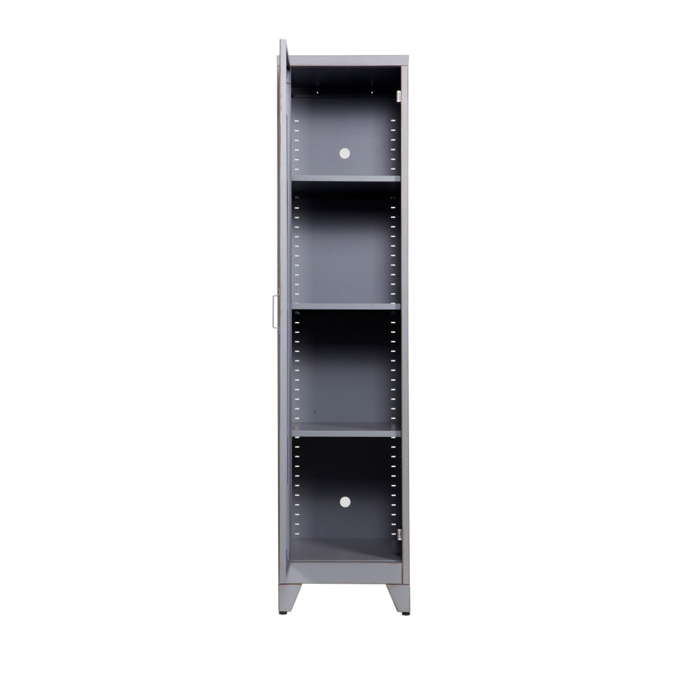 armoire 1 porte vintage gris maxim par. Black Bedroom Furniture Sets. Home Design Ideas