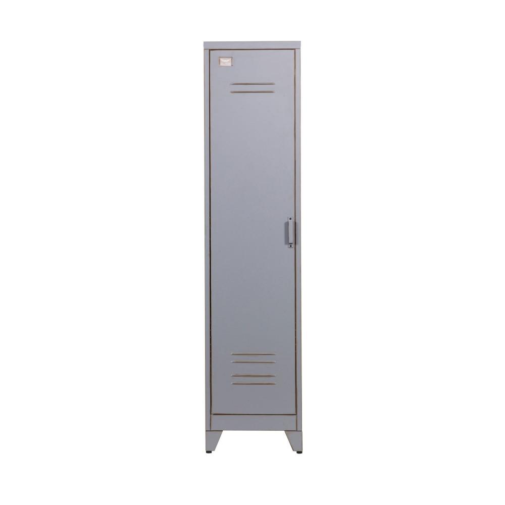 Armoire 1 porte vintage gris maxim par for Armoire une porte