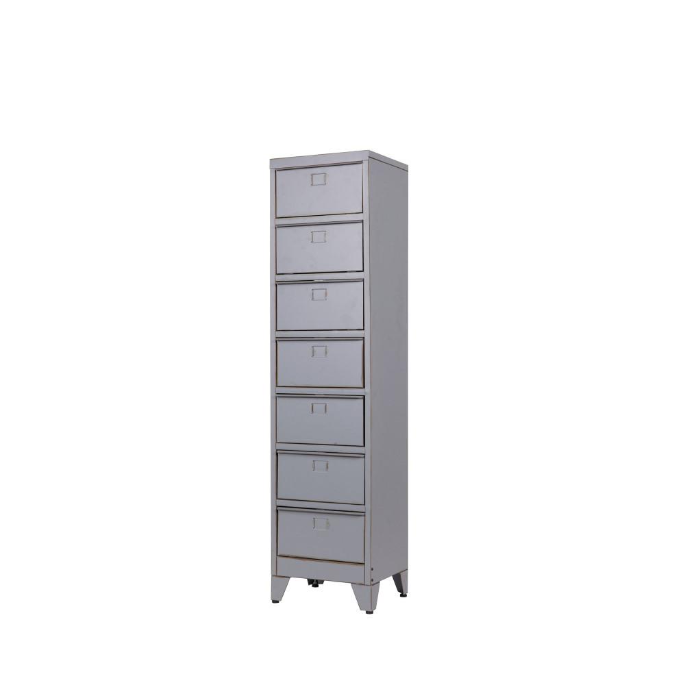 armoire 7 tiroirs grise marijke par. Black Bedroom Furniture Sets. Home Design Ideas