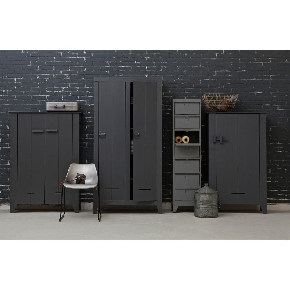 Bien-aimé Armoire 7 tiroirs grise Marijke par Drawer.fr XW49