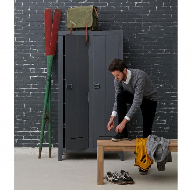 Armoire industrielle 2 portes en pin Til