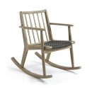 Rocking chair en bois indoor/outdoor Milena