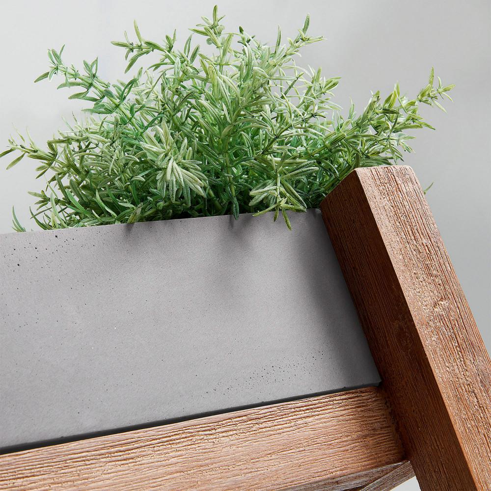 Etag re ciment et bois jardini res rectangulaires luna by drawer - Jardiniere en ciment ...
