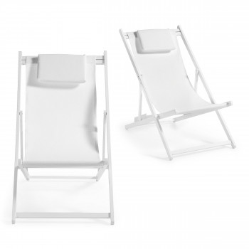 Lot de 2 transats pliants en aluminium Johnson