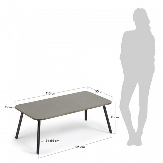 Table basse métal et ciment indoor/outdoor Vernon